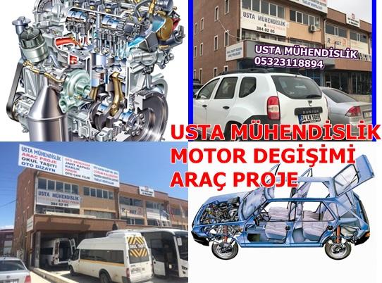ARAÇ MOTOR DEGİŞİMİ ARAÇ PROJE ANKARA 0532311894