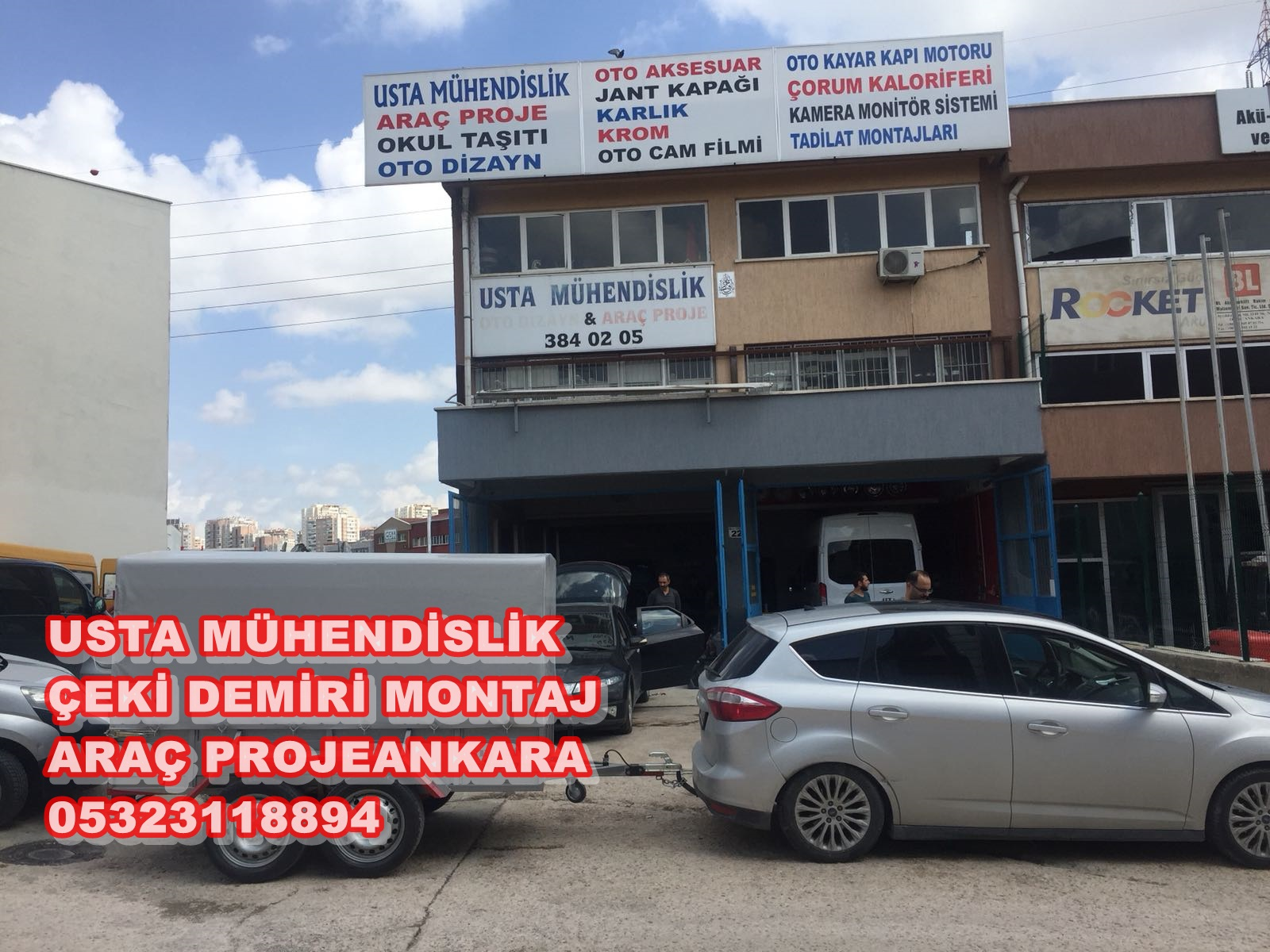 OTO ÇEKİ DEMİRİ ARAÇ PROJE +MONTAJI ANKARA